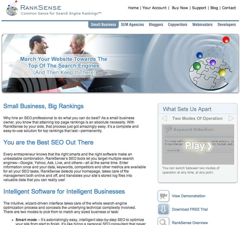 Software SEO: RankSense